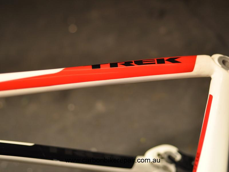 Trek Madone seat stay logo after