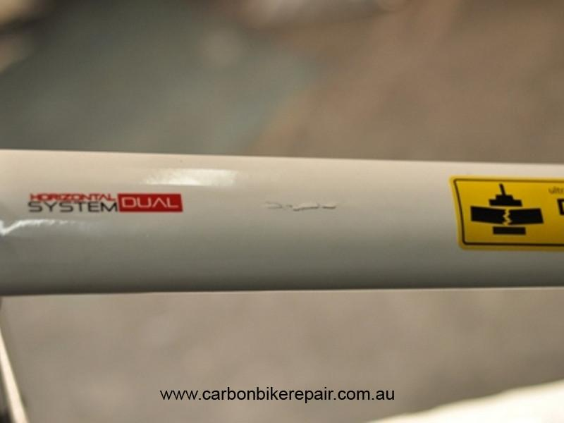 Argon 18 top tube before