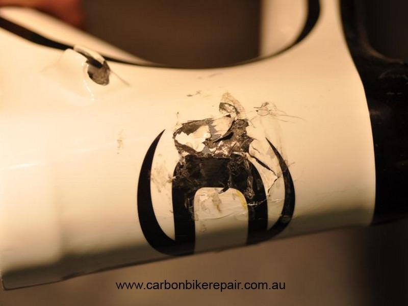 Cannondale head tube before