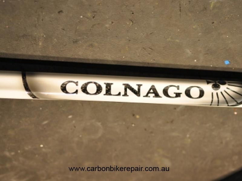 Colnago C50 top tube after