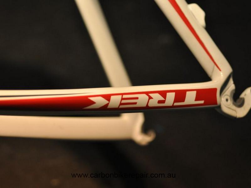 Trek Madone seat stay white after