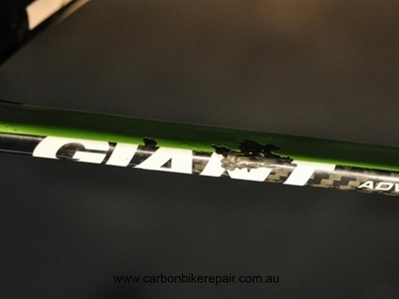 Giant TCR seat stay green before